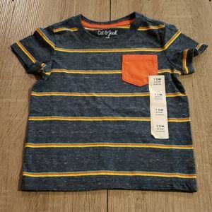 $2 with bundle! Blue Boys Striped Pocket T-Shirt